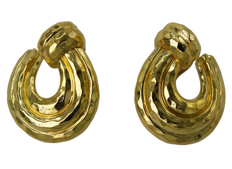 Pair of 18 Karat Gold Earclips by Henry Dunay
