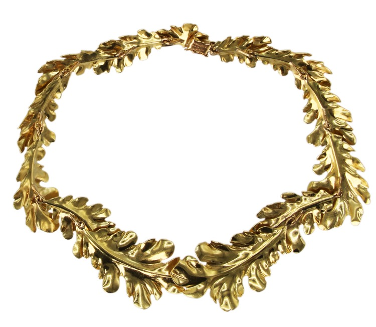 18 Karat Yellow Gold Foliate Necklace by Buccellati, Italy - Image #2