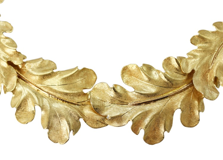 18 Karat Yellow Gold Foliate Necklace by Buccellati, Italy - Image #3