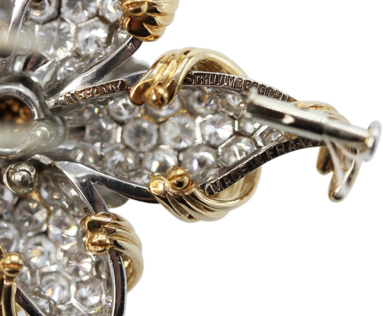 18 Karat Gold and Diamond Brooch by Schlumberger for Tiffany & Co., France - Image #4
