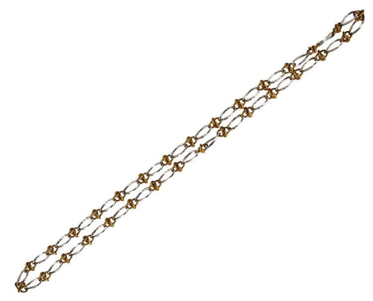 18 Karat White and Yellow Gold Longchain by Tiffany & Co - Image #2