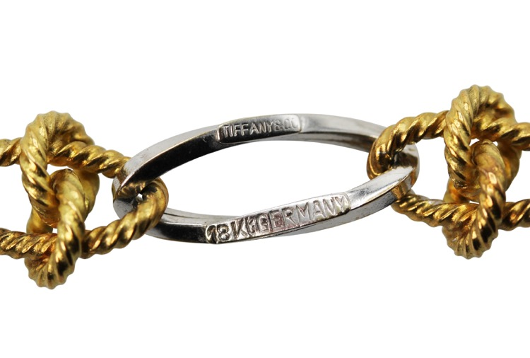18 Karat White and Yellow Gold Longchain by Tiffany & Co - Image #3