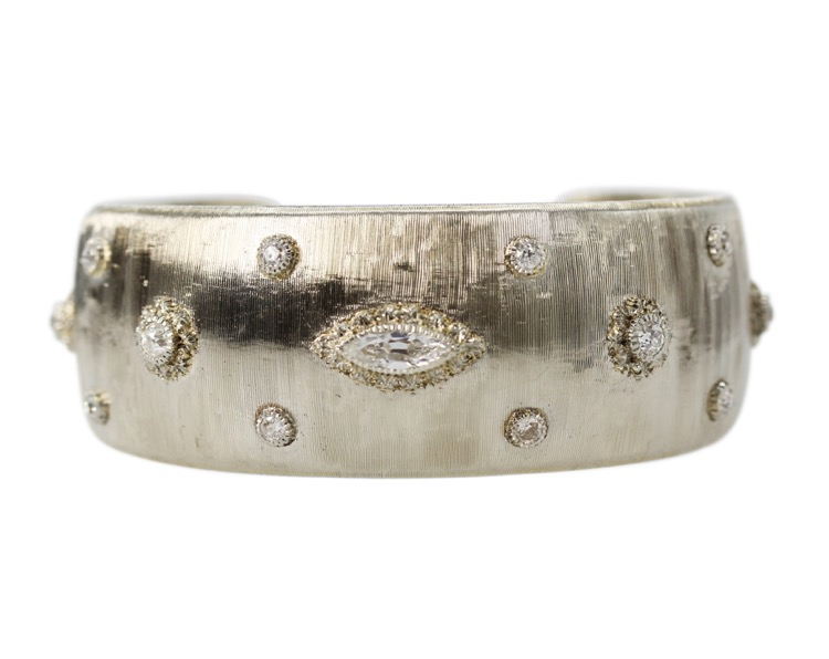 18 Karat White Gold and Diamond Cuff by Buccellati, circa 1930