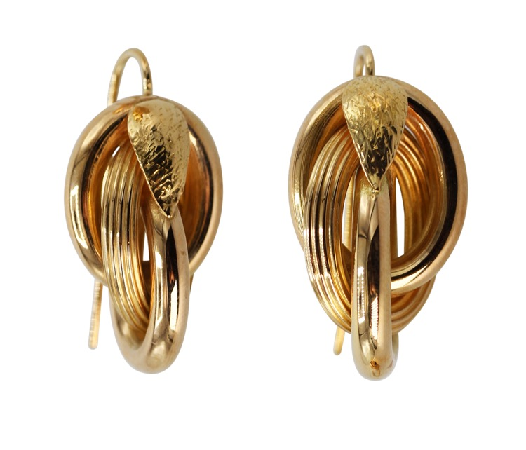 Pair of 18 Karat Yellow Gold Earrings