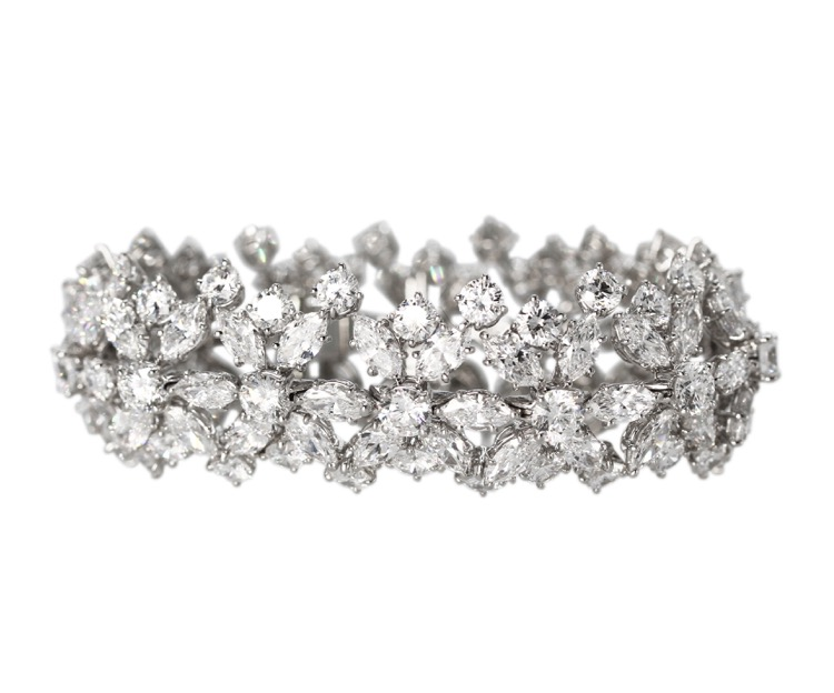 Platinum Diamond Bracelet by Harry Winston