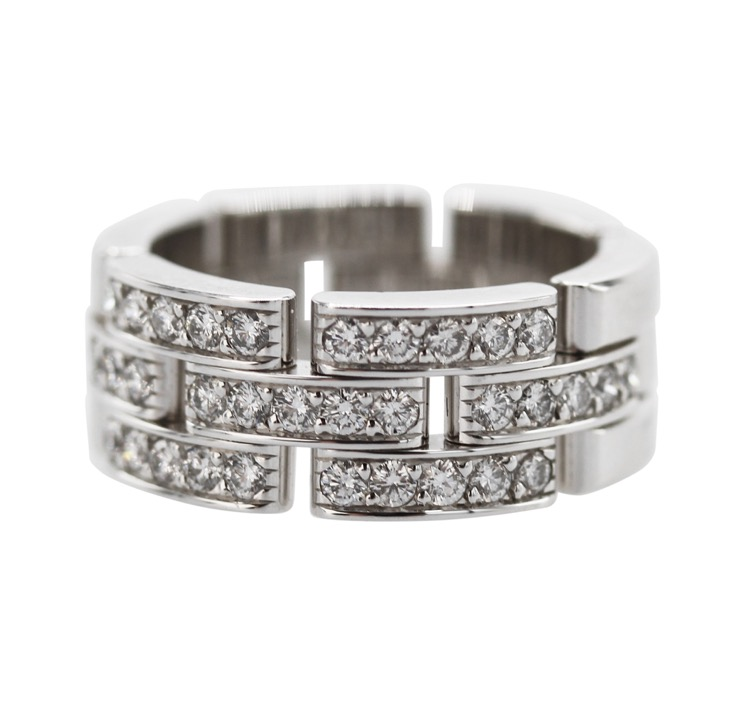 18 Karat White Gold and Diamond