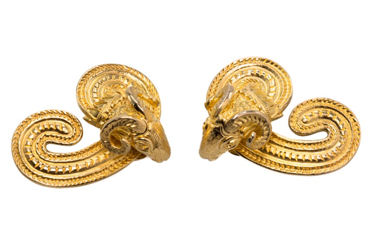 Pair of 18 Karat Yellow Gold Earclips by Lalaounis