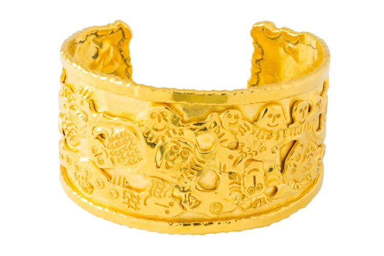 22k Yellow Gold Cuff Bracelet by Jean Mahie