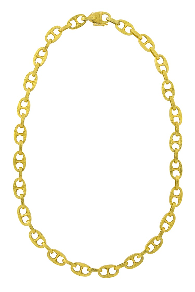 18 Karat Yellow Gold Link Necklace