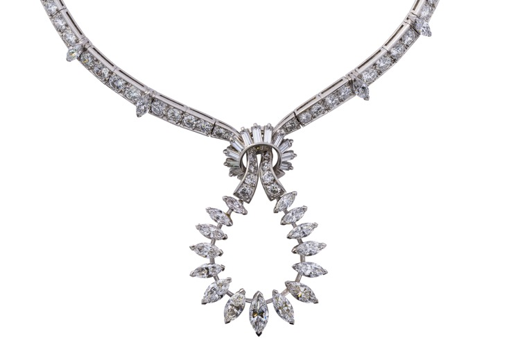 Platinum Diamond Necklace by Boucheron, Paris