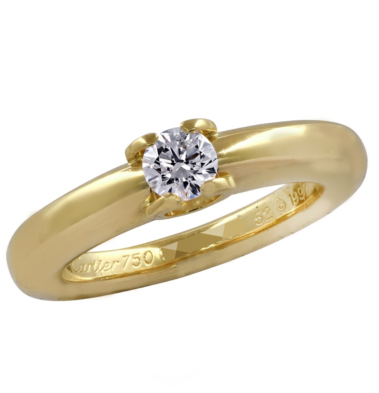 18 Karat Yellow Gold Louis Ring by Cartier - Image #4