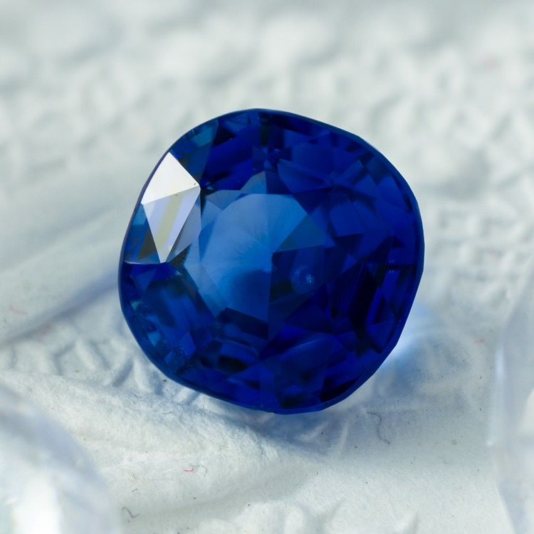 Loose Cushion Cut No Heat Ceylon Sapphire