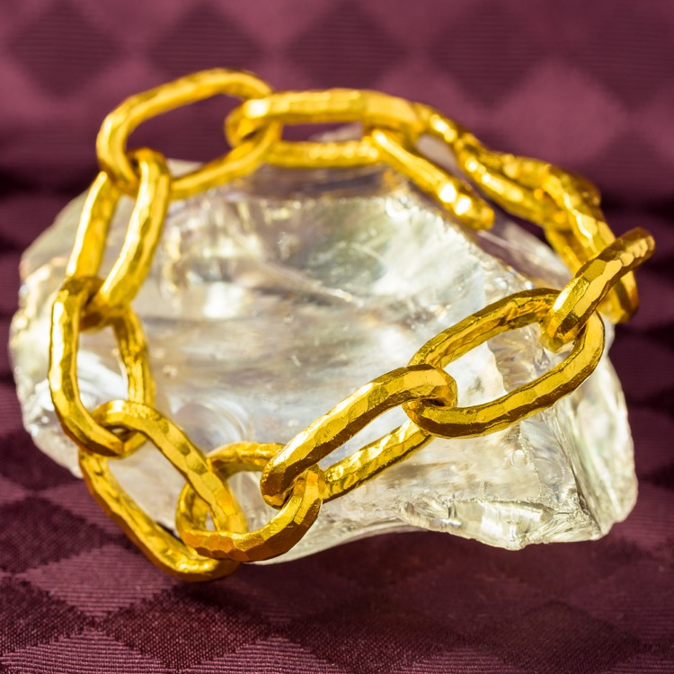 22k Yellow Gold Bracelet by Jean Mahie