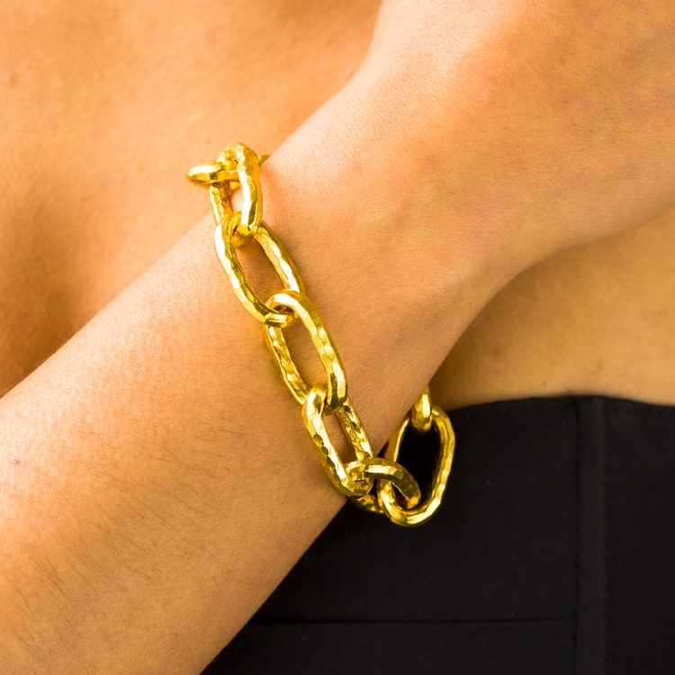 22k Yellow Gold Bracelet by Jean Mahie - Image #4