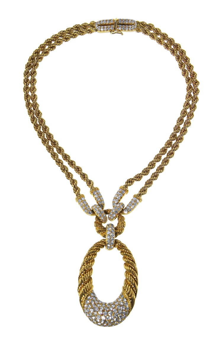 18 Karat Gold and Diamond Necklace by Boucheron, circa 1950