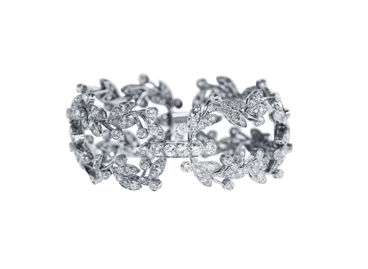 Belle Epoque Platinum and Diamond Bracelet by Cartier, France