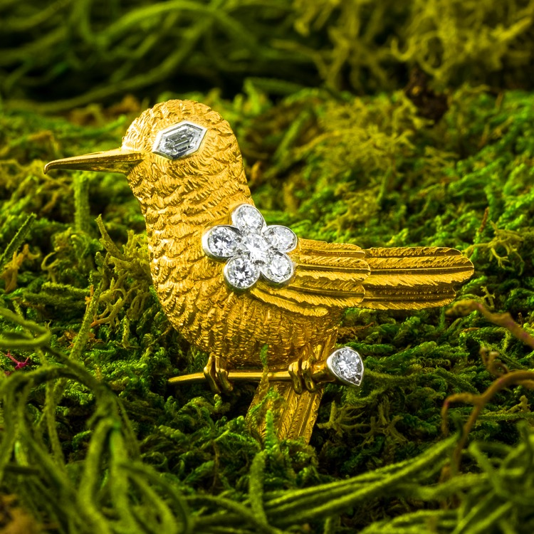 Cartier Diamond Bird Brooch, London, c 1950s