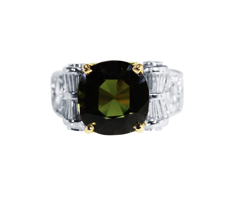 Platinum, Alexandrite and Diamond Ring by Jewels by Star