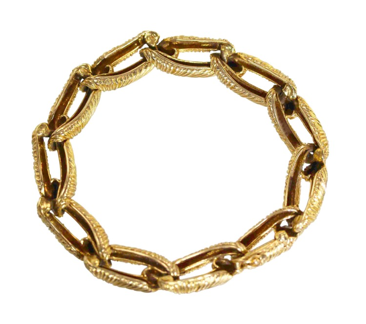 18 Karat Gold Link Bracelet by Cartier, Paris, circa 1970 - Image #2