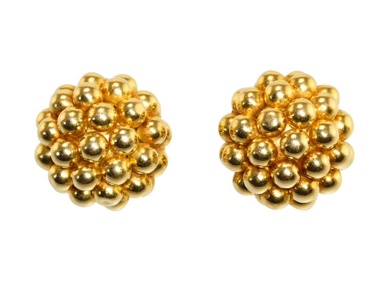 Pair of 18 Karat Gold Earclips by Cartier, Italy, circa 1970