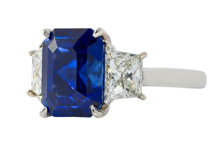 Platinum, Sapphire and Diamond Ring by A. Aletto - Image #2