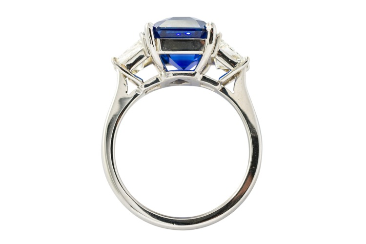 Platinum, Sapphire and Diamond Ring by A. Aletto - Image #3