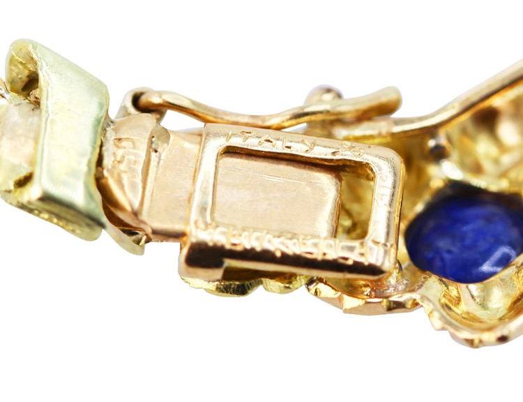 18 Karat Two-Tone Gold and Sapphire Necklace by Buccellati, Italy, circa 1960 - Image #4