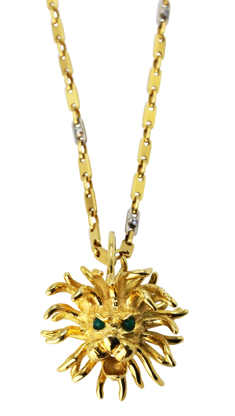 necklace lyst small jewelry chains metallic karat gold pippa