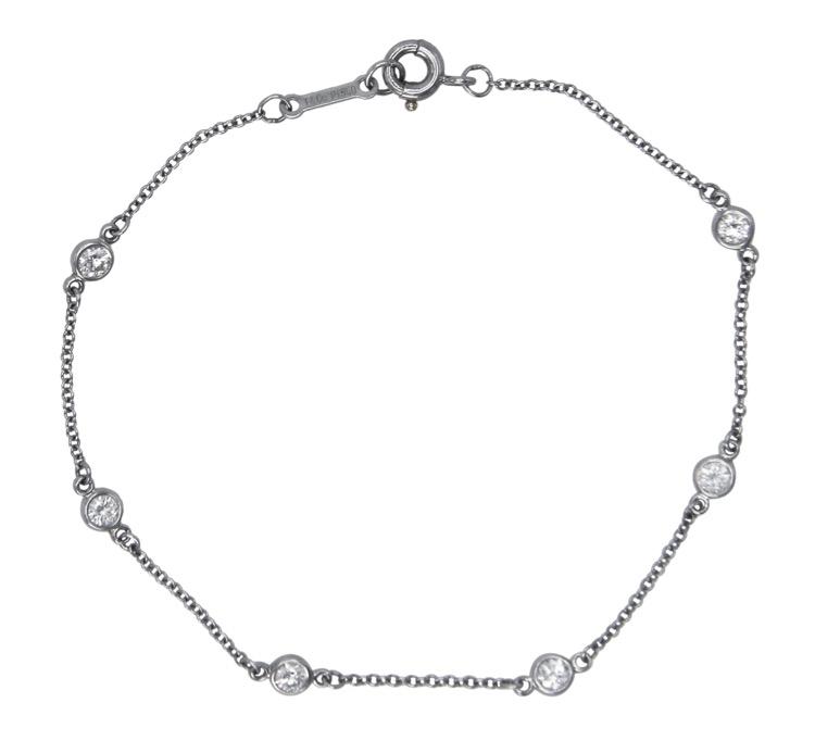 "Tiffany & Co Bracelets Platinum and Diamond ""Diamonds by the"
