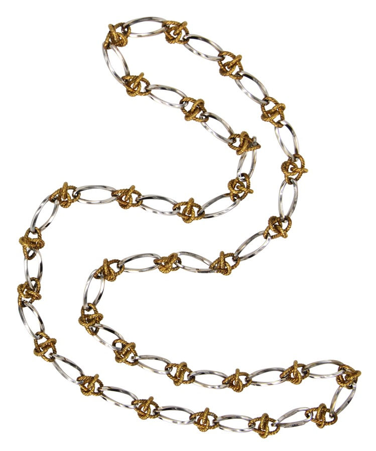 18 Karat White and Yellow Gold Longchain by Tiffany & Co