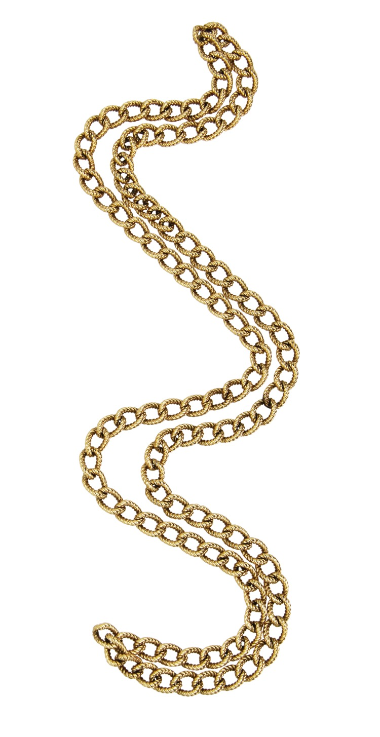 14 Karat Yellow Gold Long Chain