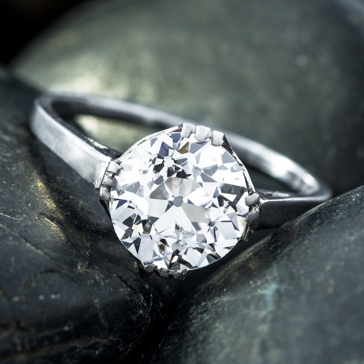Antique Platinum and Diamond Ring - Image #2