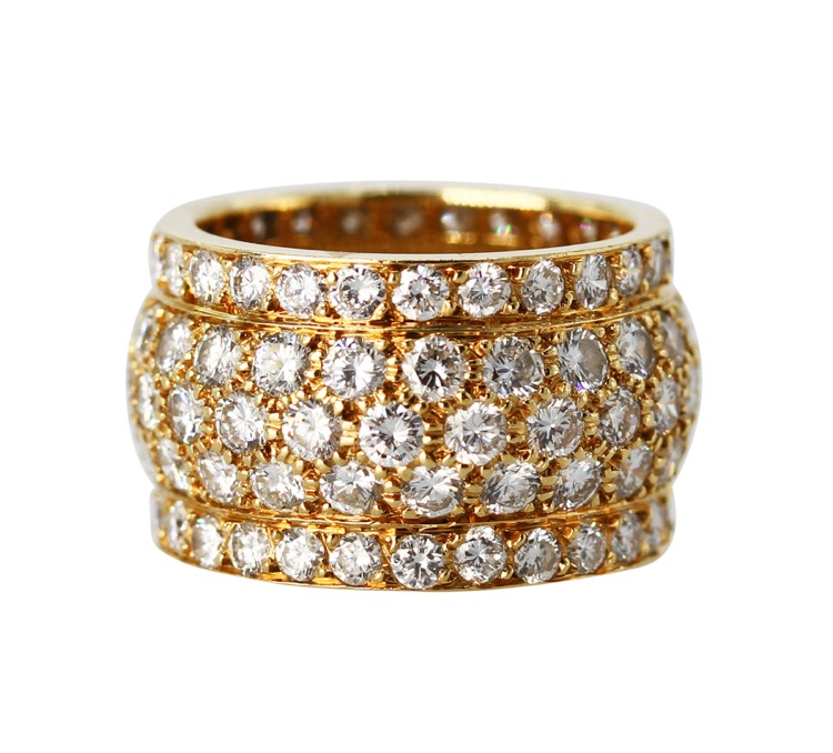 "18 Karat Yellow Gold and Diamond ""Nigeria\"" Ring by Cartier, France"