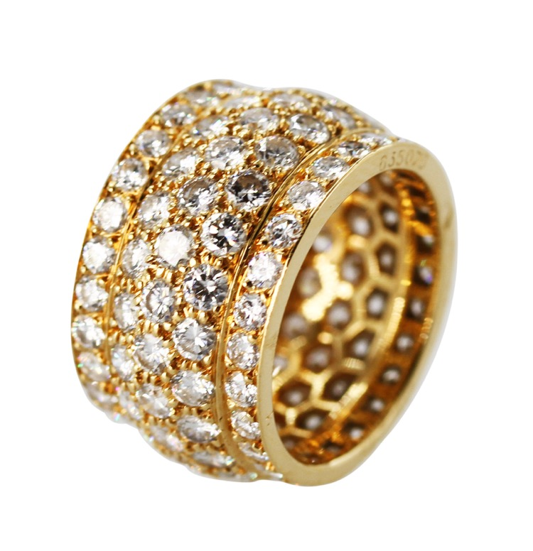 "18 Karat Yellow Gold and Diamond ""Nigeria"" Ring by Cartier, France - Image #2"