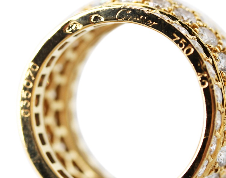 "18 Karat Yellow Gold and Diamond ""Nigeria"" Ring by Cartier, France - Image #3"