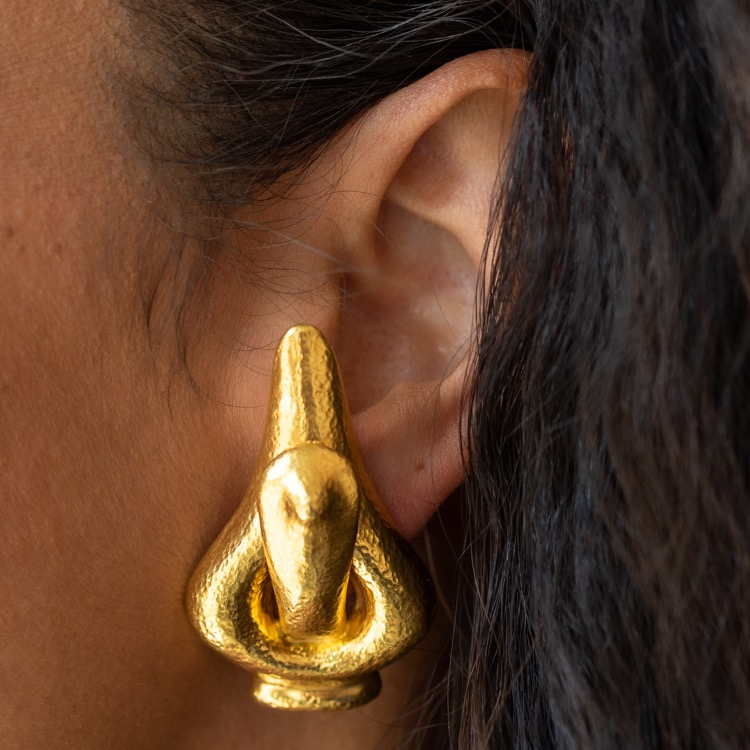 18 Karat Yellow Gold Earrings by Lalaounis