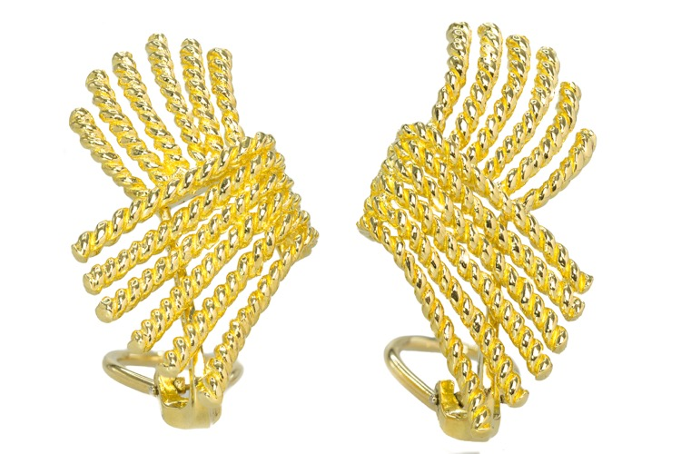 18 Karat Yellow Gold Earrings by Schlumberger for Tiffany & Co.