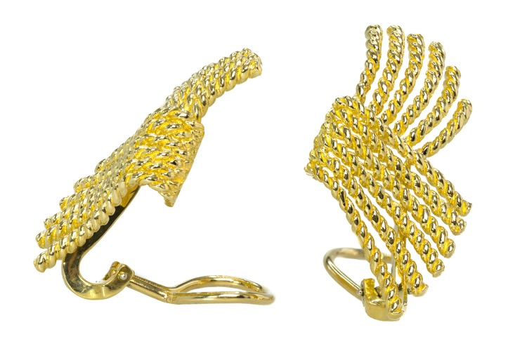 18 Karat Yellow Gold Earrings by Schlumberger for Tiffany & Co. - Image #2