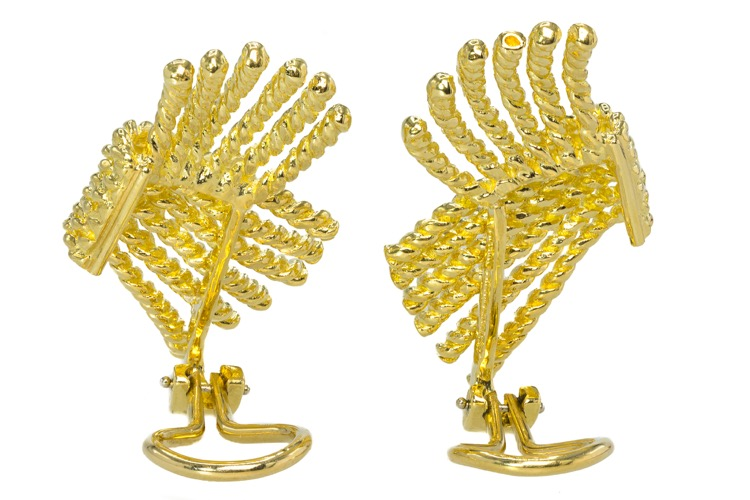18 Karat Yellow Gold Earrings by Schlumberger for Tiffany & Co. - Image #3