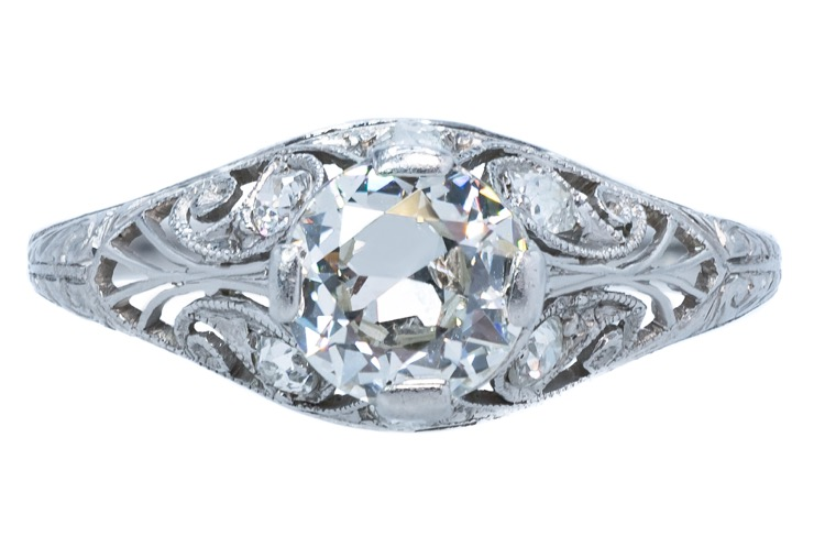Edwardian Platinum Diamond Ring, circa 1915