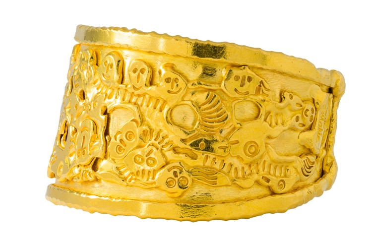 22k Yellow Gold Cuff Bracelet by Jean Mahie - Image #3