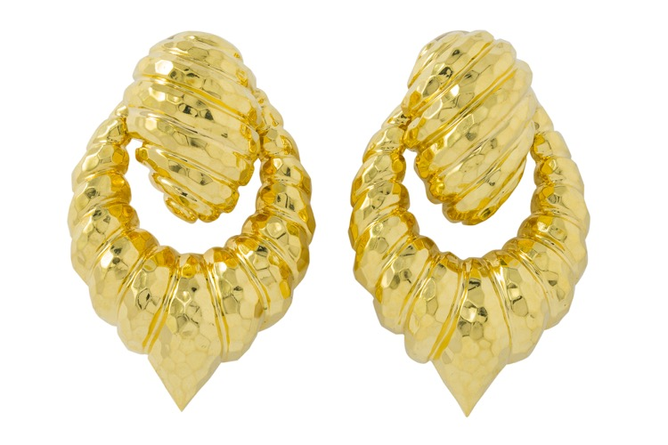 18 Karat Yellow Gold Earrings by Henry Dunay