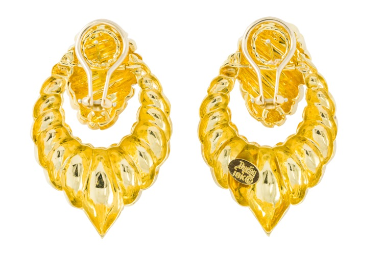 18 Karat Yellow Gold Earrings by Henry Dunay - Image #3