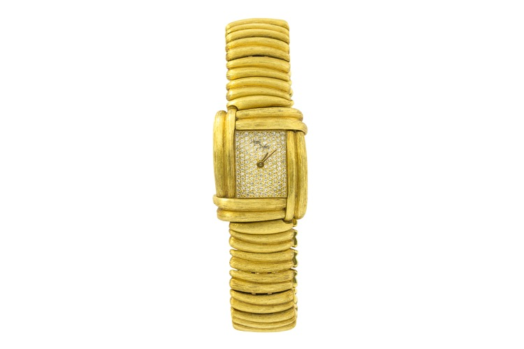 18 Karat Yellow Gold Diamond Watch by Henry Dunay