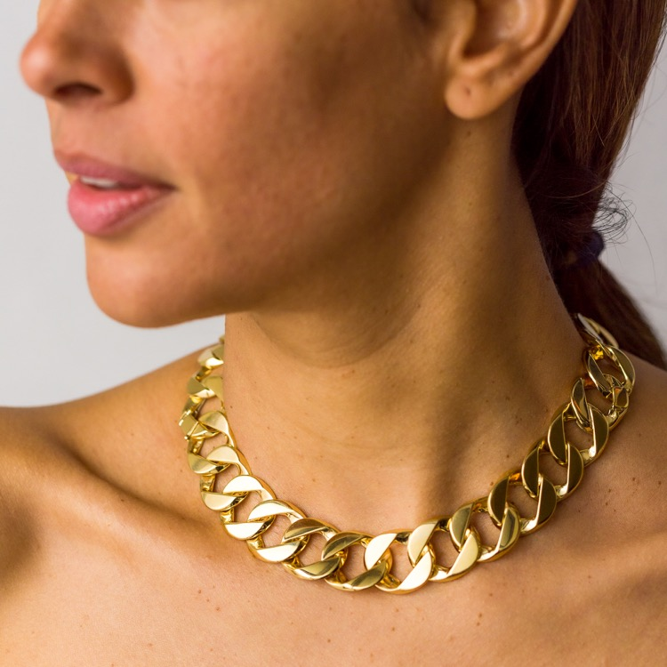 18 Karat Yellow Gold Curb Link Necklace by Verdura - Image #2
