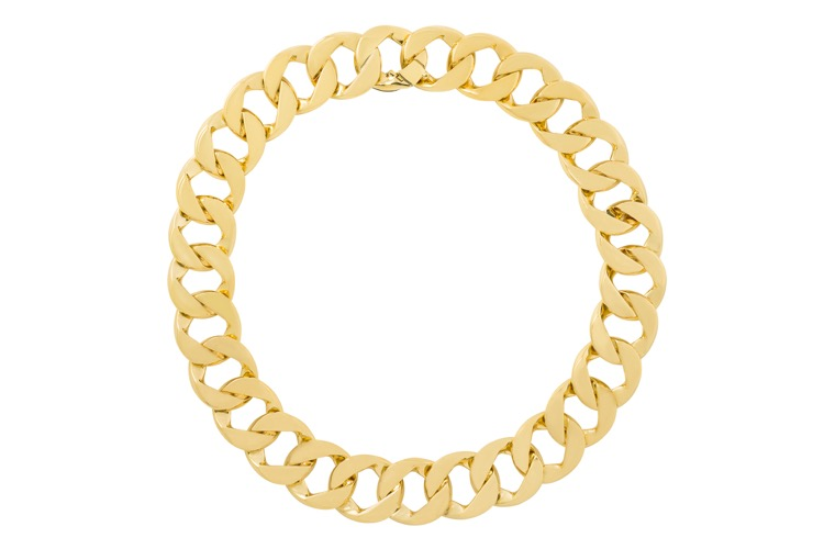 18 Karat Yellow Gold Curb Link Necklace by Verdura - Image #3
