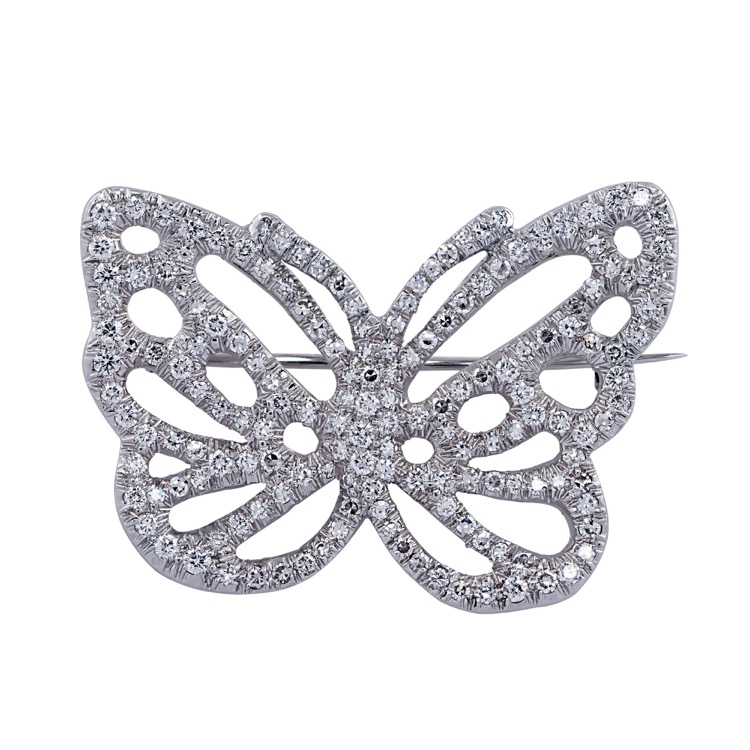 Platinum and Diamond Brooch by Angela Cummings for Tiffany & Co.