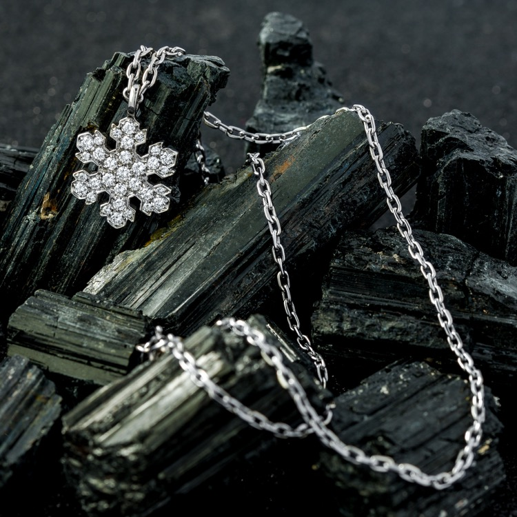 Bulgari Diamond Snowflake Pendant Necklace