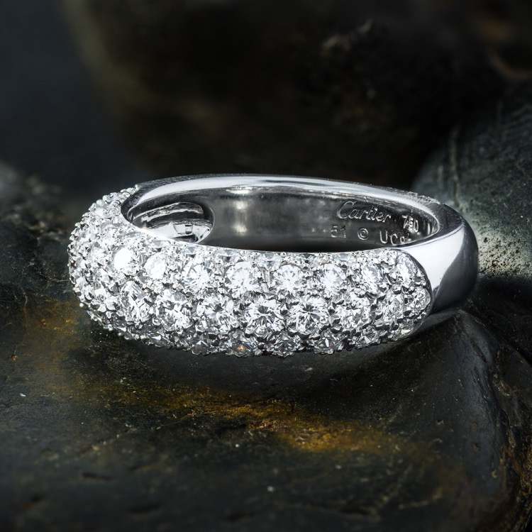 18 Karat White Gold Diamond Etincelle de Cartier Ring by Cartier