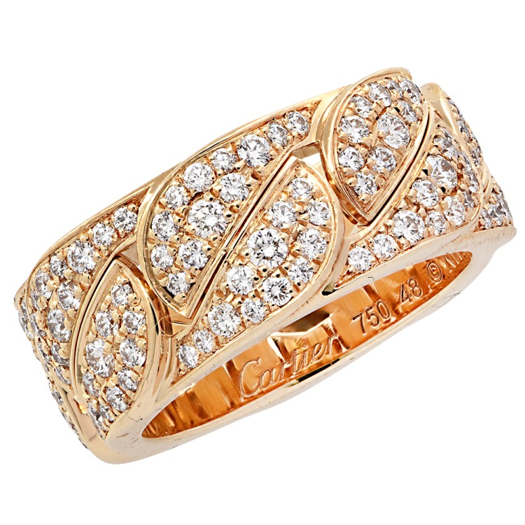 18 Karat Yellow Gold and Diamond La Dona Ring by Cartier